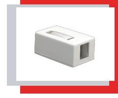 Box for installing KeyStone modules