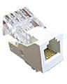 RJ 11 telephone socket mechanism under cover, LK45 series